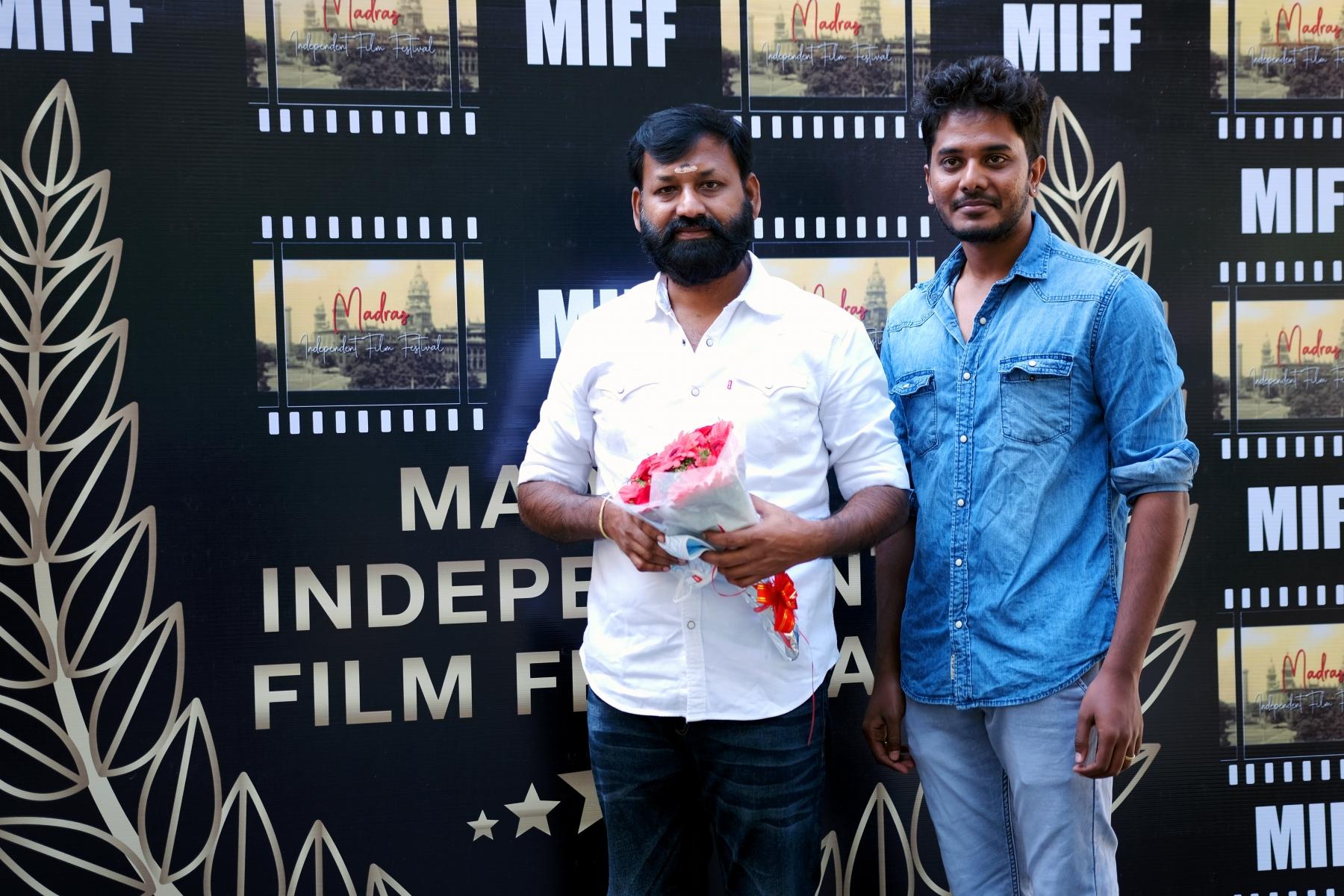 Festival Director Rathina Kumar with the Film Producer Mr.Kathiresan sir